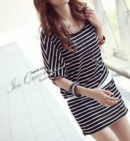 Buy cheap F8909 fight the trend of girl striped dress from wholesalers