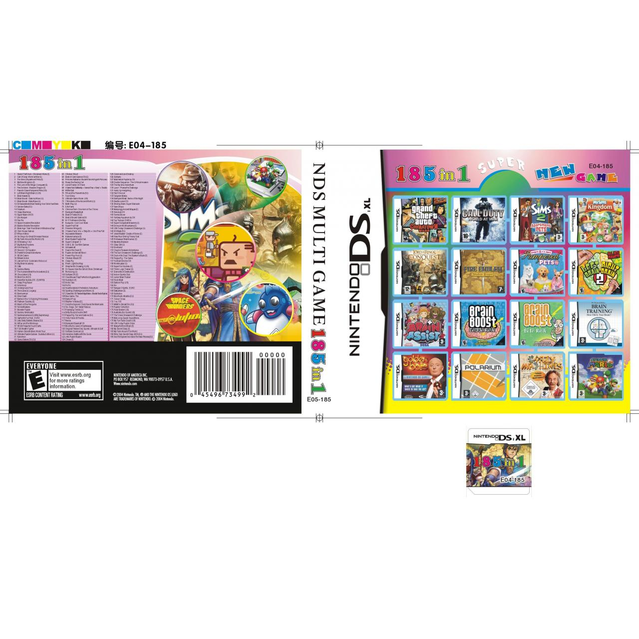 Buy cheap DS Multi Game Card DSi XL/DSi/DS Lite/DS DSi Games Card 16GB (185 in 1) from wholesalers