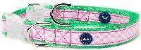 Buy cheap Pink & Green Gingham Large Dog Collar & 5' Leash Set from wholesalers