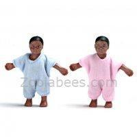 Buy cheap Dollhouse Miniature Black Twins from wholesalers