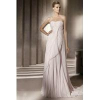 Buy cheap Sweetheart Pink Embroidery Drapping Column Chiffon Wedding Dress In Color Wholesale from wholesalers