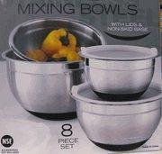 Buy cheap 8 Piece Mixing Bowl Set With Non Slip Bottom from wholesalers