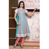 Buy cheap Pink Blue Color Designer Wedding Salwar Kameez from wholesalers