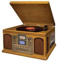 Buy cheap CR2405A-OA Crosley Director CD Recorder with Cassette Player-Oak from wholesalers