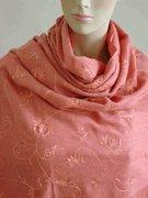 Buy cheap Mary Salmon Orange Embroidered Wool Pashmina Shawl Wrap SELECTION PRIVEE from wholesalers