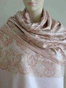 China Celia Pink Silk Paisley Revesible Shawl Wrap SELECTION PRIVEE on sale