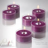 Buy cheap Purple Floating Candles In Plastic Cups Mulberry Scented 1.5 Set of 500 from wholesalers