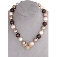Buy cheap Brown Mix 10mm Caviar Magnetic Attractions Pearl Necklace product