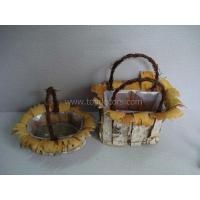 Buy cheap Birch flower basket from wholesalers