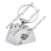 Buy cheap Playing Card Keychains, Playing Card Metal Keychains from wholesalers