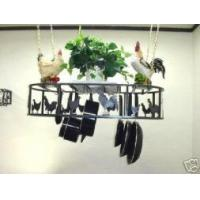 Buy cheap Hanging Oval Pot Rack With Chickens & Roosters Amish Made product