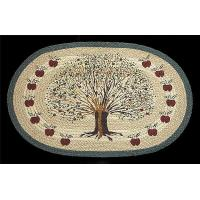 Buy cheap Oval Hand Printed Apple Tree Braided Earth Rug from wholesalers