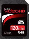 Buy cheap SanDisk Video HD 8GB SDHC memory cards from wholesalers