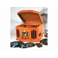 Buy cheap Nostalgic Compact Stereo AM/FM CD Tape 3 Speed Turntable product