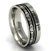 Buy cheap Claddagh and Ogham Wedding Style Band from wholesalers