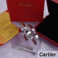 Buy cheap Cartier Leve Lovers Bangles White Gold Diamond from wholesalers