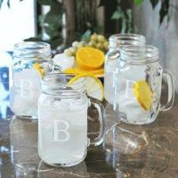 Buy cheap Engraved Old Fashioned Drinking Jars (Set of 4) from wholesalers