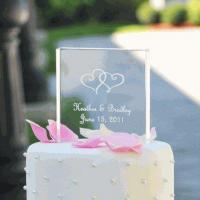 Buy cheap Personalized Acrylic Square Cake Topper from wholesalers