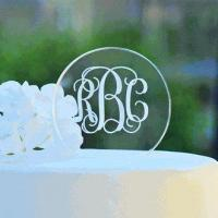 Buy cheap Personalized Acrylic Circle Cake Topper from wholesalers