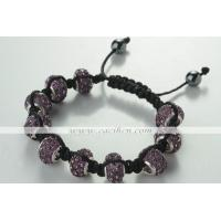 Buy cheap Clay Pave Ball Bracelet from wholesalers