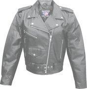 Buy cheap Ladies Basic Classic Cowhide Motorcycle Jacket - Sizes XS to 5XL from wholesalers
