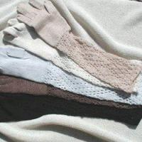 Buy cheap 100% Baby Alpaca Diamond Lace Long Gloves from wholesalers