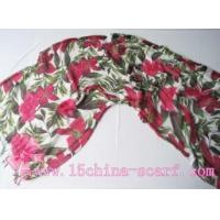 Buy cheap printed scarf / flower scarf from wholesalers