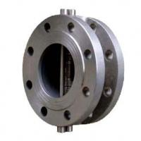 Buy cheap Flange Connection Double Disc Wafer Type Swing Check Valve (H46) from wholesalers