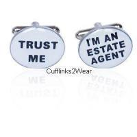 Buy cheap Trust Me / I'm An Estate Agent Cufflinks from wholesalers
