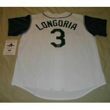 Quality EVAN LONGORIA AUTOGRAPHED RAYS ROOKIE JERSEY for sale