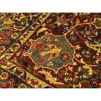 Buy cheap Persian Qum Ghom Maroon Gold blue rug handwoven 8x-12-6 from wholesalers