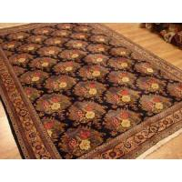 Buy cheap Persian Ardabil Serapi Qum Navy Rose Gold rug 7-3x10-3 from wholesalers