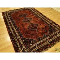 Buy cheap Persian Tribal Soft hand knotted Shiraz Geometric Wool Red Navy Stars rug 7x9-7 from wholesalers