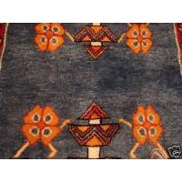 Buy cheap Modern d Persian Varmin blue Gold Runner rug 2-8x12-9 from wholesalers