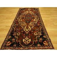 Buy cheap Persian Bakhtiari Ivory Rustic Brown Teal rug 3-6x7-11 from wholesalers