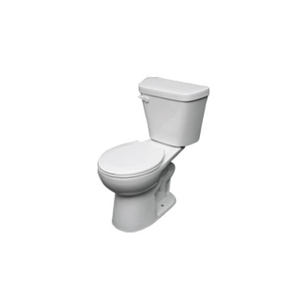 16 5 INCH ELONGATED DUAL FLUSH TOILET 2 INCH FLAPPER 4 6L White Product Photo
