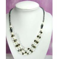 Buy cheap hematite beaded necklace with power bead cat eye beads from wholesalers
