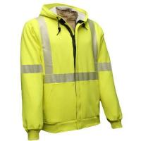 Buy cheap FR Hi-Vis Hooded Sweatshirt with Zipper in 10 oz. Reliant Fleece (C21HC_05C3) from wholesalers