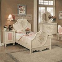 Buy cheap Doll House Cream 4 Pieces 56H Kids Twin Bedroom Set from wholesalers