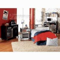 china powell monster metal youth 4 pieces twin headboard bedroom set