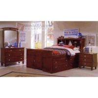 Buy cheap Elise Espresso Bookcase Twin Captains Bedroom Set with Storage Drawers from wholesalers