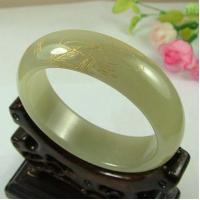 Buy cheap 56mm Celadon Nephrite Hetian Jade Chinese Carved Bangle Bracelet from wholesalers