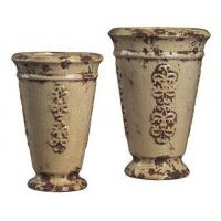 Buy cheap 2-Pc French Reproduction Ceramic Vase SetItem #: 404862 from wholesalers