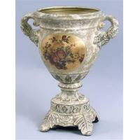Buy cheap Earthenware Vase w Handles in Antique White FinishItem #: 93231 from wholesalers