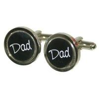 Buy cheap Dad Black Round Cufflinks from wholesalers
