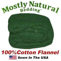 Buy cheap Flannel Duvet Cover Twin Size Hunter Green Color from wholesalers