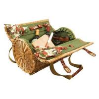 Buy cheap Two Lid Rattan Basket w Wine & Cheese ServiceItem #: 26919 from wholesalers