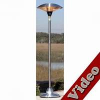 Buy cheap Floor Standing Round Stainless Steel Halogen Patio Heater from wholesalers