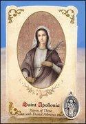 Buy cheap St Apollonia (Dental Ailments) Healing Holy Card with Medal from wholesalers