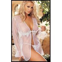 Buy cheap Sexy Silk Satin Robe H2116 In White from wholesalers